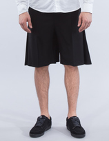Lad Musician Wool Gabardine Back Tuck Shorts