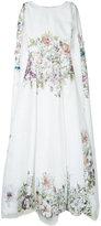 Isabel Sanchis floral cape gown