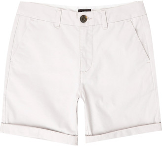 River Island Boys grey chino shorts