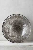 Anthropologie Metallic Lace Bowl