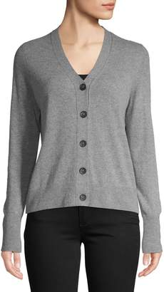 En Thread Long-Sleeve Button-Front Cardigan