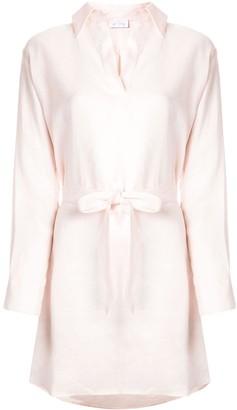 Pour Les Femmes Tied Shirt Dress