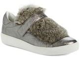 Moncler Women's 'Lucie Scarpa' Genuine Rabbit Fur Trim Sneaker