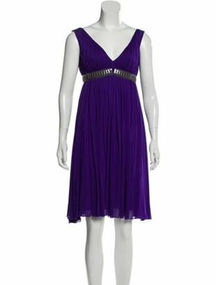 Versace Sleeveless Mini Dress Purple