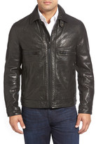 Andrew Marc Exeter Leather Trucker Jacket
