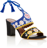 Tabitha Simmons Embroidered Suede Sandals