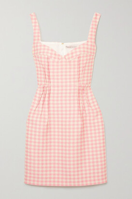 Emilia Wickstead Jude Gingham Cloque Mini Dress