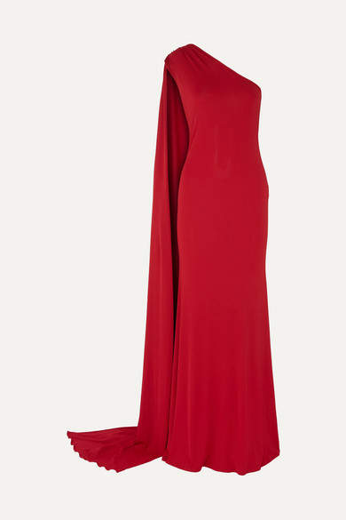 Naeem Khan One-shoulder Stretch-jersey Gown - Red
