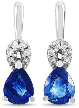Non Branded Lb Exclusive 14K 0.49 Ct. Tw. Diamond & Sapphire Earrings