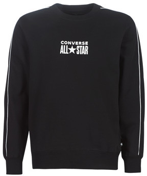 Converse TRACK CREW men's Sweatshirt in Black