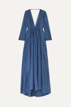 Kalita Clemence Silk-organza Maxi Dress - Royal blue
