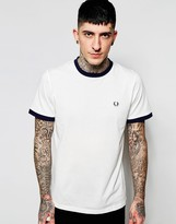 Fred Perry Ringer T-Shirt with Logo