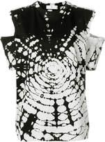 Toga Pulla tie dye cold shoulder T-shirt
