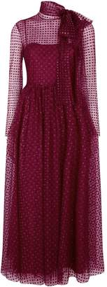 RED Valentino Glitter Polka-Dot Midi Dress