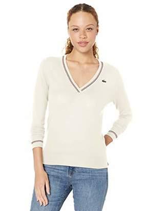 Lacoste Women's Sport Technical SEMI Fancy Golf Sweater