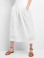 Gap Eyelet wide-leg crop pants