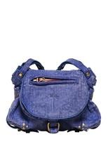 Jerome Dreyfuss Mini Twee Leather Denim Effect Bag