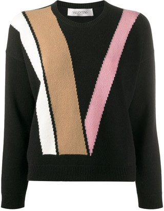 Valentino double V crew neck jumper