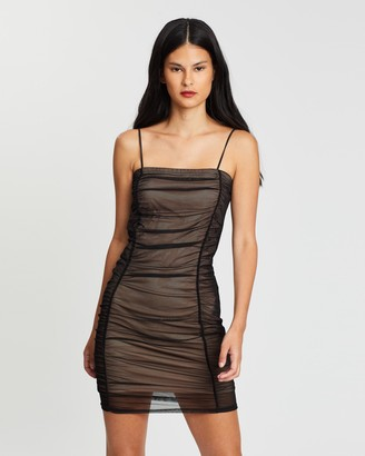 Miss Selfridge Ruched Body-Con Mini Dress