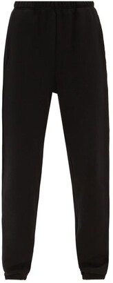 LES TIEN Classic Fleece-back Cotton-jersey Track Pants - Black