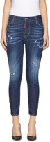 DSQUARED2 Indigo Sprinkle Wash London Jeans