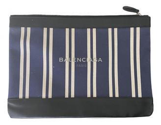 Balenciaga Navy Cloth Clutch bags