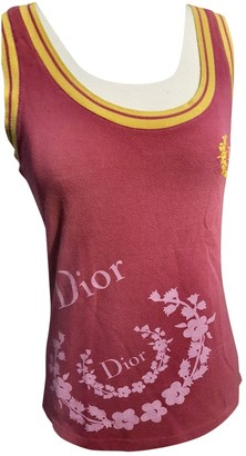 Christian Dior Pink Cotton Top for Women Vintage