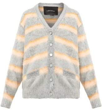 Marc Jacobs Striped Silk Cardigan - Womens - Orange Multi