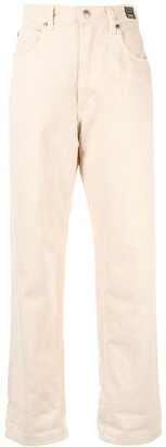 Versace Pre-Owned High Rise Straight-Fit Jeans