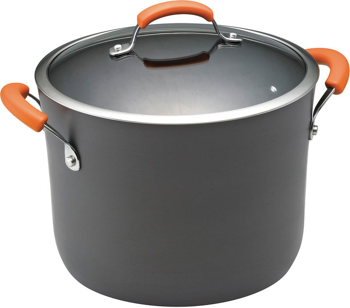 Rachael Ray 10-qt. Hard-Anodized Covered Stock Pot