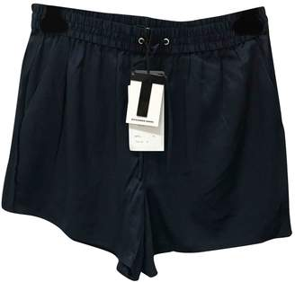 Alexander Wang Navy Silk Shorts for Women