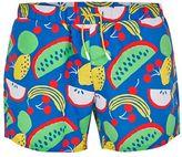 Topman Blue Fruit Print Swim Shorts
