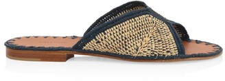 Carrie Forbes Woven Raffia Slides