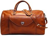 Floto Monteverde Duffle Olive Brown Italian Leather Weekender Travel Bag