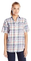 Dickies Women's Short Sleeve Plaid Shirt