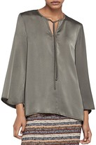 BCBGeneration Bell Sleeve Tie-Neck Blouse