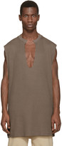 Yeezy Taupe Waffle Cotton Thermal Tank Top