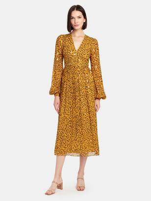 Saloni Camille Silk Chiffon Midi Dress