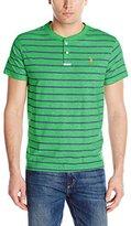 U.S. Polo Assn. Men's Slim-Fit Stripe Slub Henley T-Shirt