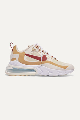 Nike Air Max 270 React Neoprene And Faux Leather Sneakers - Tan