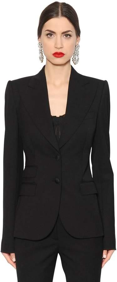 Dolce & Gabbana Stretch Wool Natté Jacket