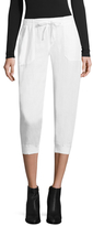 Three Dots Cropped Linen Jogger
