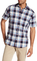 Toscano Short Sleeve Plaid Regular Fit Woven Shirt