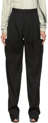 Y/Project Black Double Leg Trousers
