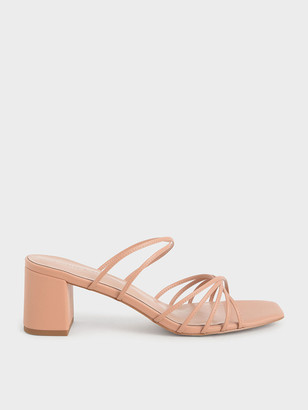 Charles & Keith Strappy Square Toe Sandals