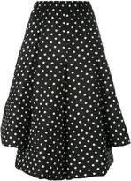Comme des Garcons polka dot full skirt - women - Polyester - S