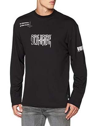 Cheap Monday Men's Setting ls Tee Melting Truth T-Shirt, Black, Large (Size: L)