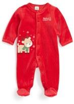 Little Me Reindeer Velour Footie (Baby Boys)