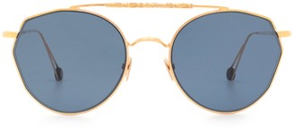 AHLEM Place Carree Rose Gold Sunglasses
