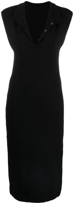Jacquemus Polo Collar Fitted Dress